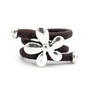 Image 4 - 10 unités de liège naturel et fleur accessoires anneau, Original fait main femmes anneau R 694 MIX 10
