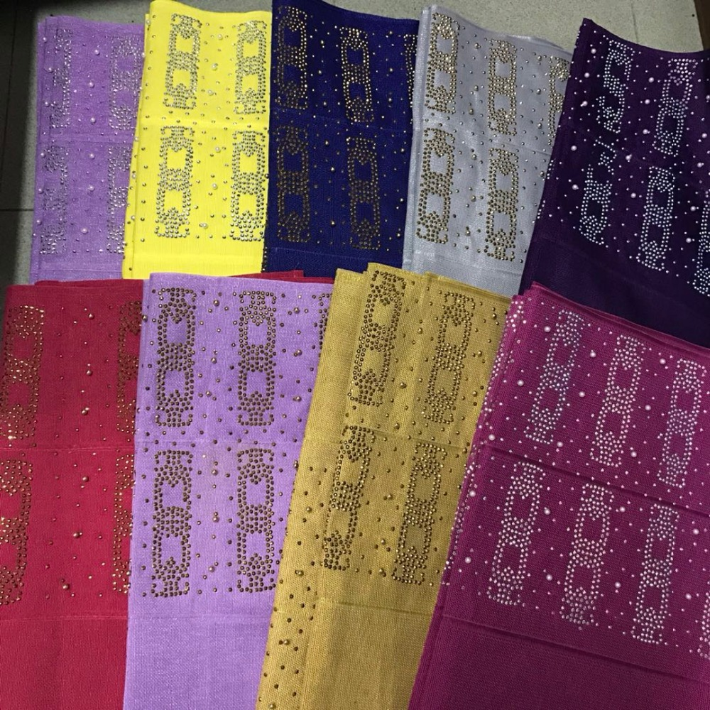 2019 Nigerian Fashion Aso Oke Can Make Auto Gele Headtie Embroidery with Gold Beads Stones Wraps Fabric  2pieces/Pack  for Women2019 Nigerian Fashion Aso Oke Can Make Auto Gele Headtie Embroidery with Gold Beads Stones Wraps Fabric  2pieces/Pack  for Women