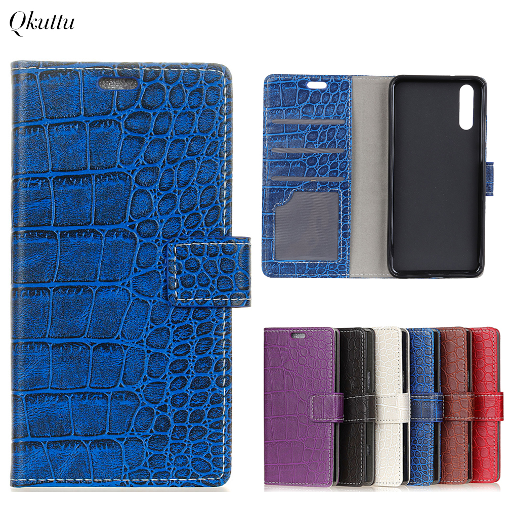 Uftemr Vintage Crocodile PU Leather Cover for Huawei P20 Protective Silicone Case Wallet Card Slot Phone Acessories