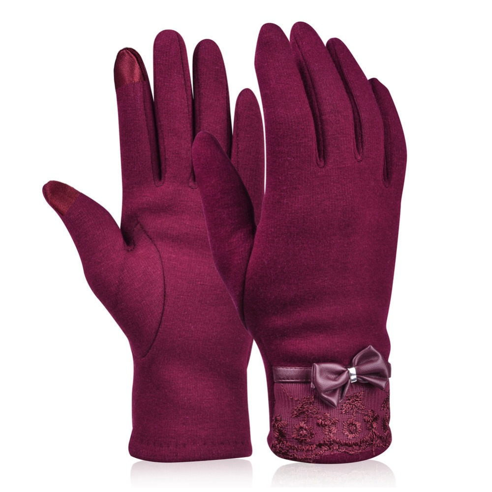 Women's Gloves Good Women Winter Warm Touch Screen Gloves For Ladies Women Girls Female Travel Outdoor Fashionable Suede Fabric Warm Gloves Mittens