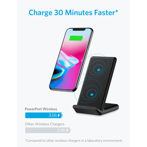 Image 2 - Anker Qi Certified Wireless Charger for iPhone 11, Pro, 8/8 Plus Samsung Galaxy  S10 S9 S8, PowerPort Wireless 5 Stand