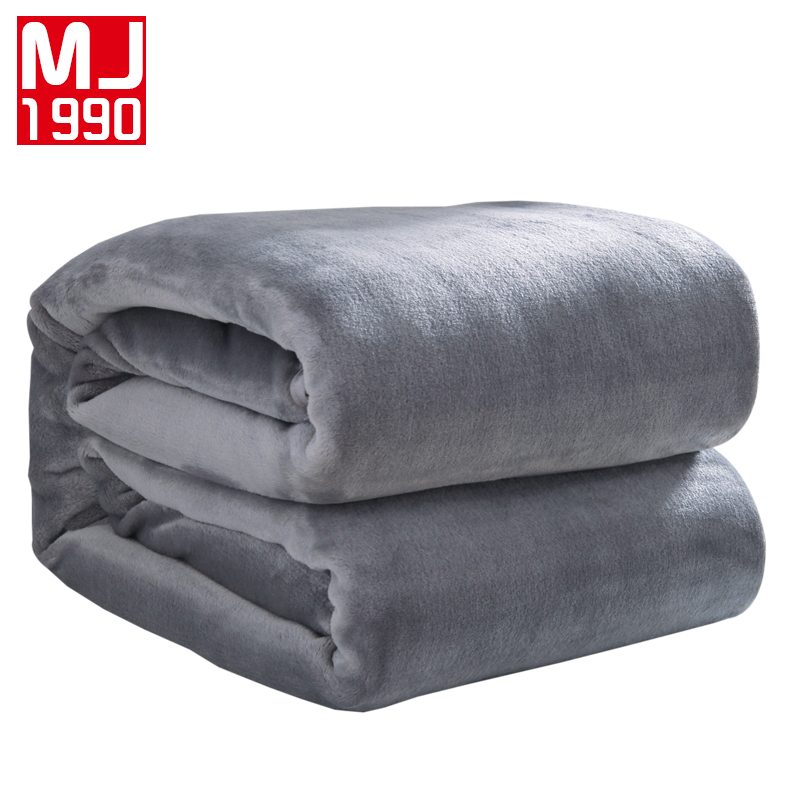 2017 High Quality Solid Color Bed Blanket Coral Fleece