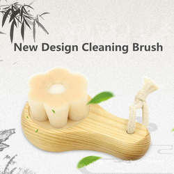 Face Washing Brush Deep Cleaning Flower Shape Blackhead Remover Face Cleaner Tool Exfoliating Massage Facial Cleaning Brush
