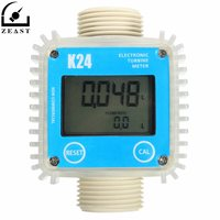 Fuel Flow Meter K24 1 Turbine Digital Diesel Guage Counter For Chemicals Water