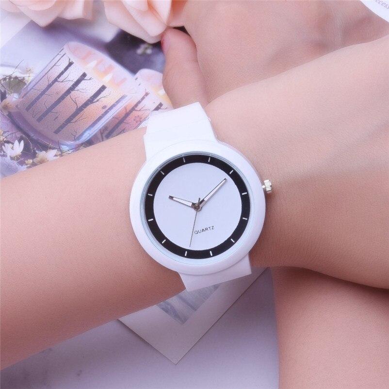 Fashion women watches bracelet watch ladies Silicone Band Analog Quartz Round Wrist Watch Watches clock Relogio Masculino S20 (5)