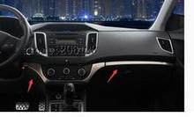 FIT FOR 2014-2017 For Hyundai ix25 (creta)  Central Control Instrument Panel Decoration Cover Trim 3 pcs
