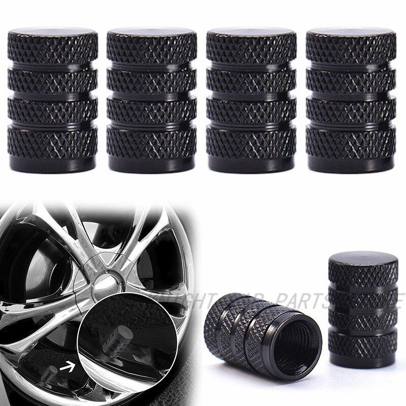 ATV 4x Metal Tapas de la válvula en Negro para Coches Motos motos