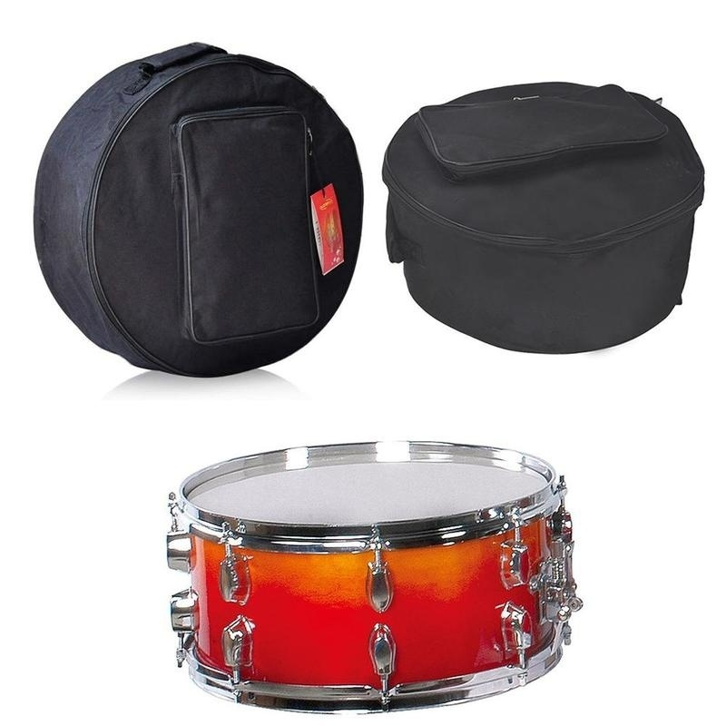 15 Inch Snare Drum Bag Backpack Case with Shoulder Strap Outside Pockets Percussion Instrument Parts & Accessories