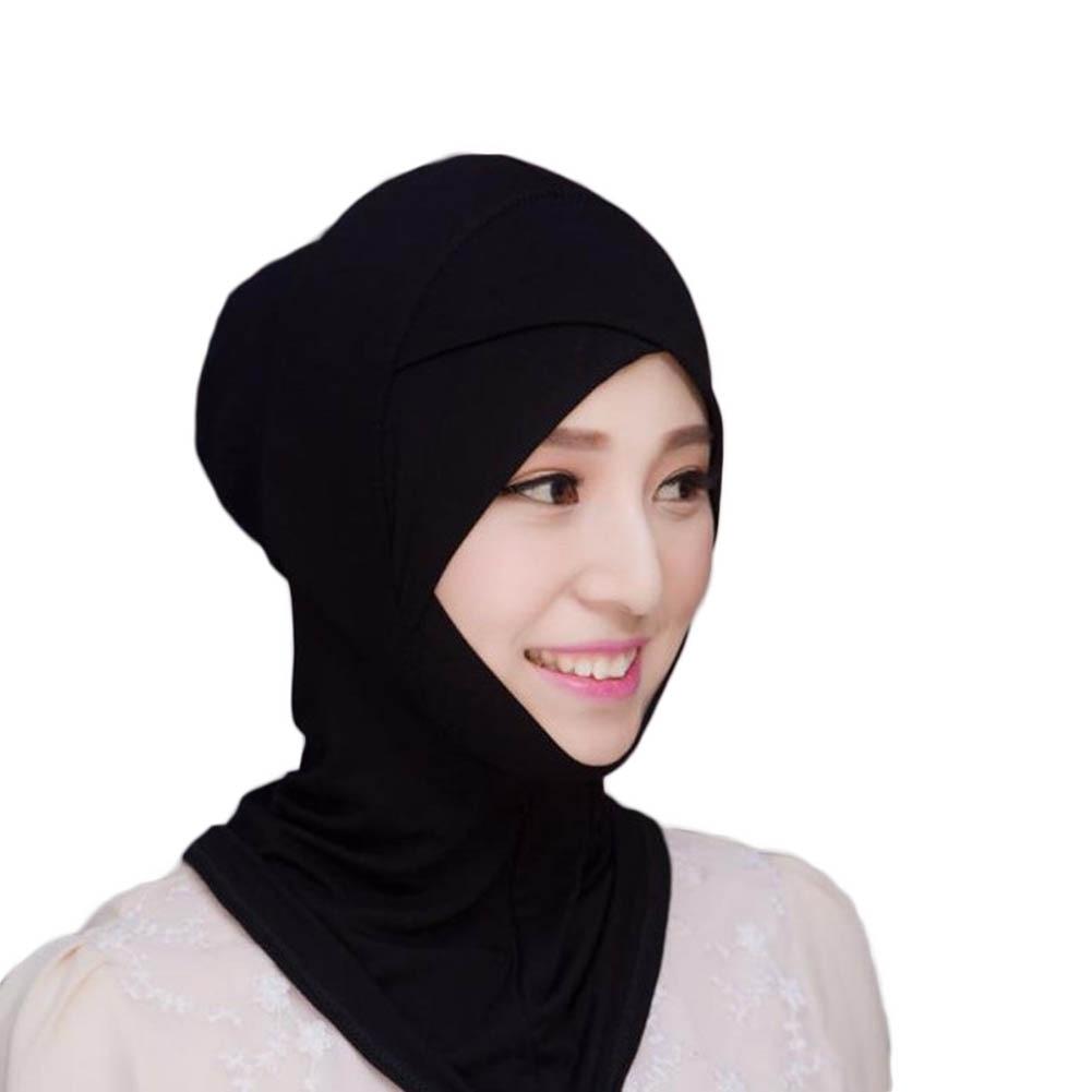 Muslim Headscarf Inner Hat Cotton Bonnet Cap Underscarf Hijab Scarf Cover Abaya Turban Headgear Hooded Instant Arab Islamic