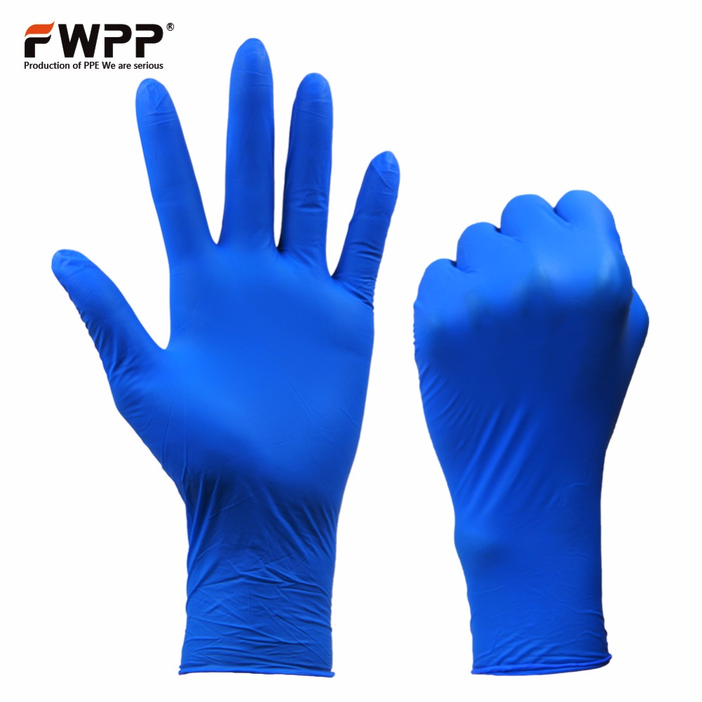 FWPP 100 Pcs/Pack Free shipping Disposable Indigo Nitrile Gloves Surgical Medical Latex Free Food Grade Powder Free  S M L 1000g food grade guar gum powder free shipping