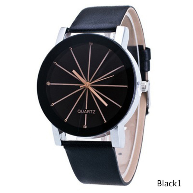 Splendid Watches Men Women Luxury Top Brand Quartz Dial Clock Leather Round Casual Wrist Watch Relogio Masculino Gift for Lovers