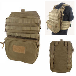 AIRSOFTPEAK MOLLE 1050D Nylon Tactical Hydration Pouch 3L Water Pack Tactical Vest Hydration Backpack Black/CB