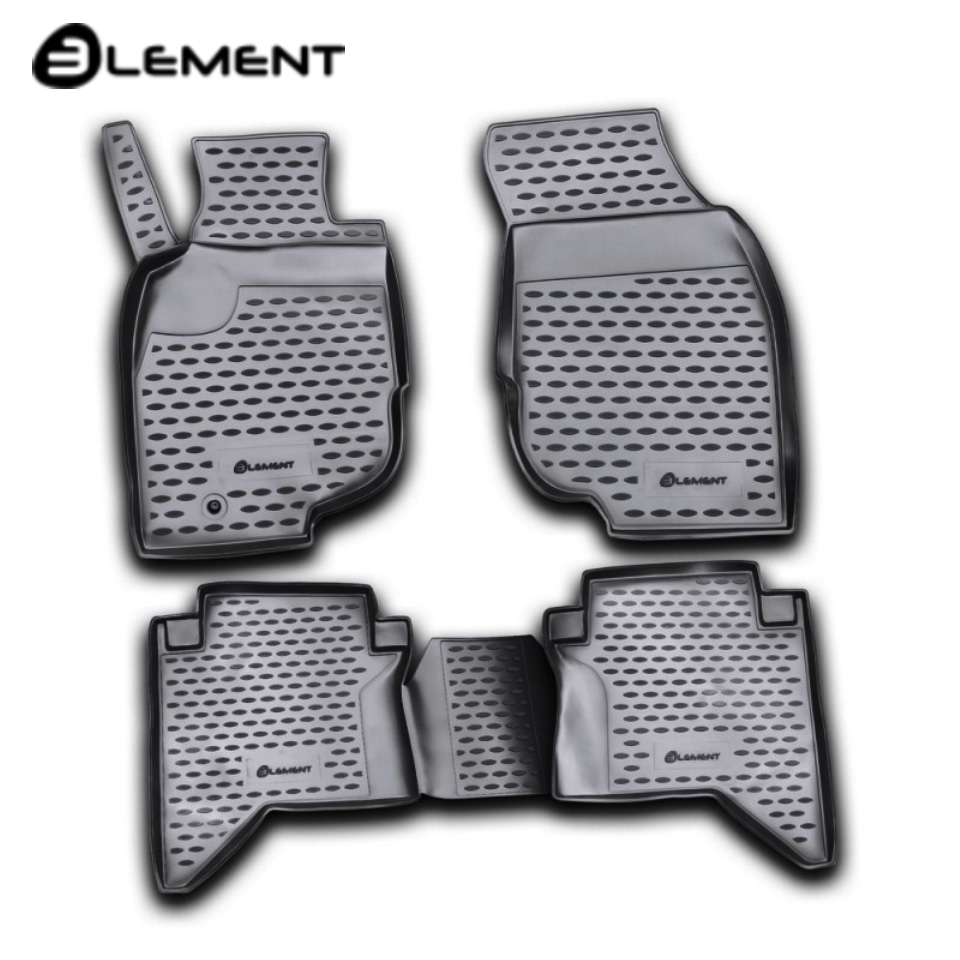 Floor mats into saloon for Toyota Hilux VII 2008-2010 4 pcs/set Element NLC4845210K