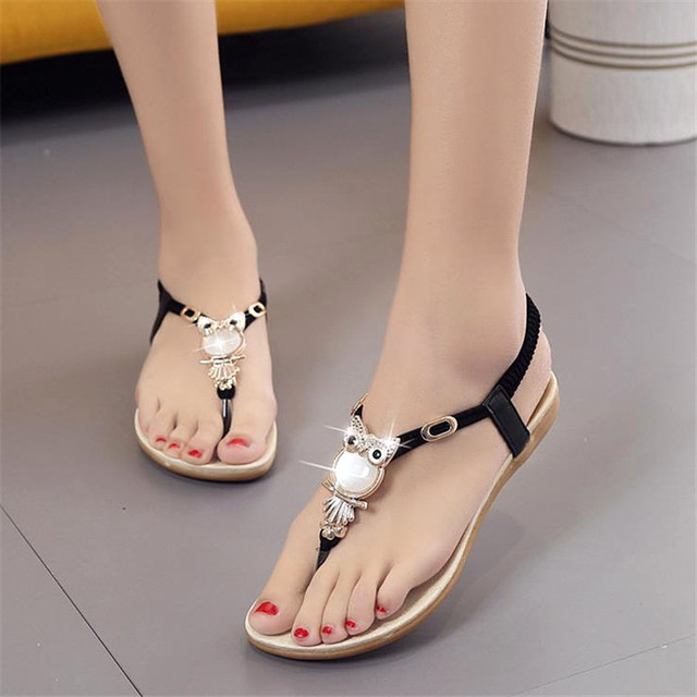b6df237554e81c 2018 New summer shoes women fashion flat women Sandals Leisure Bohemia  Ladies beach Flip Flops Soft casual female Sandals shoes