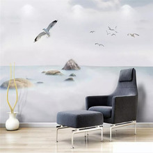Simple cloud sea landscape sky art concept high-grade wall cloth manufacturers wholesale wallpaper mural photo