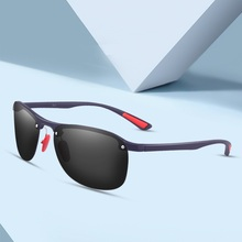 GIFANSEE polarized men sunglasses rimless pilot vintage outd