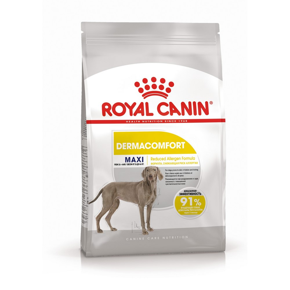 Dog Food Royal Canin Maxi Dermacomfort, 14 kg раковина jacob delafon rythmik 60 exr112 z 00 белый