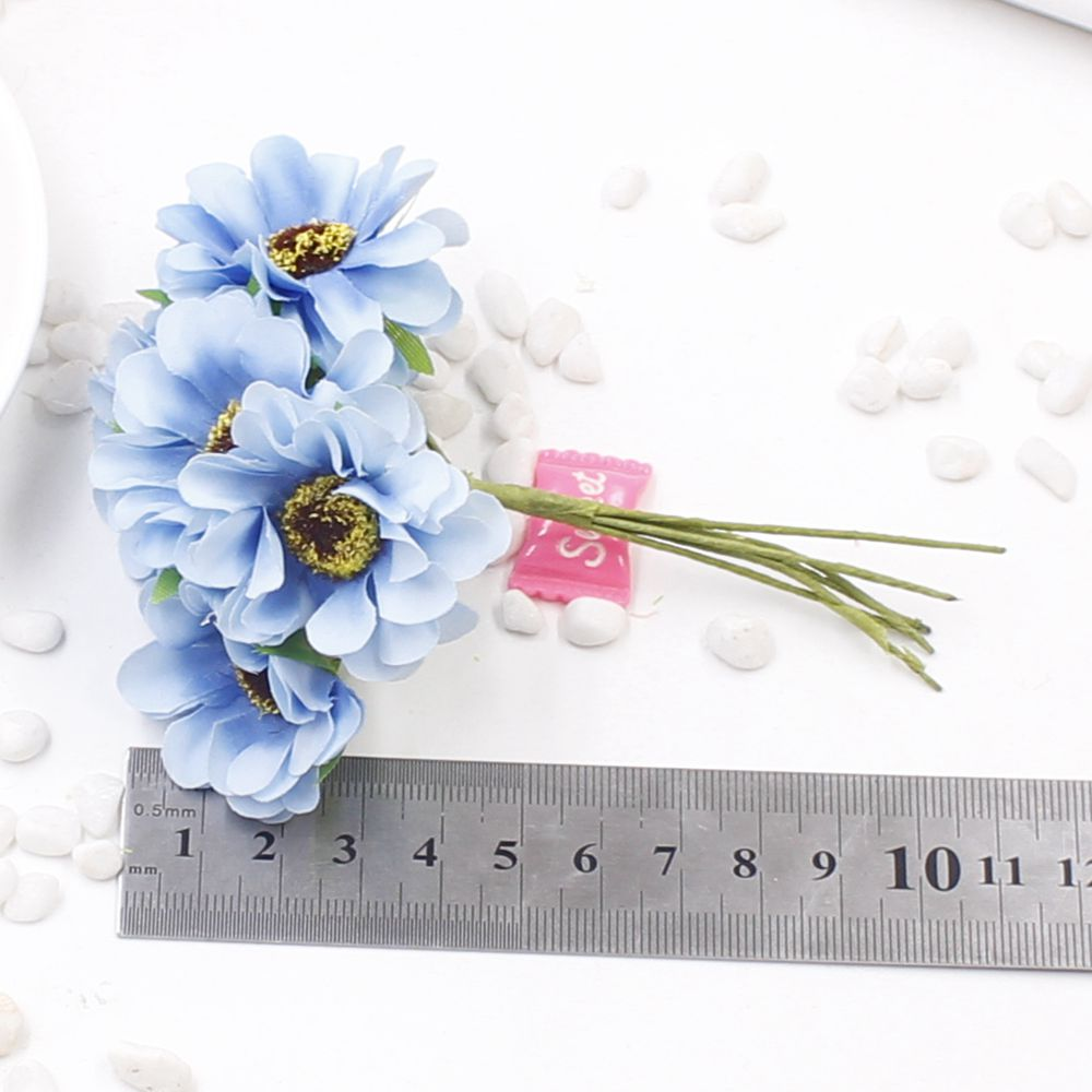Free Shipping 6pcs 3cm Silk Bouquet Of Artificial Poppies Cherry