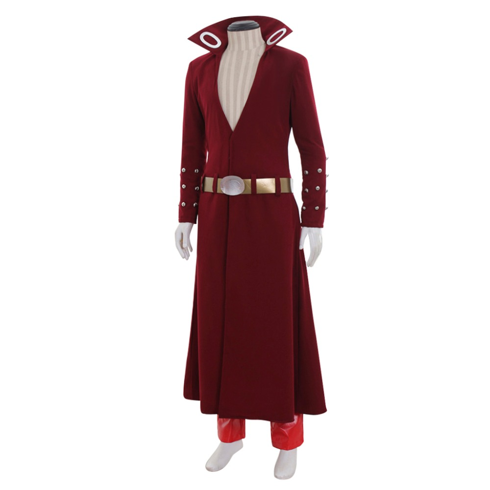 Anime The Seven Deadly Sins Ban Cosplay Costume Fox's Sin of Greed Ban Costume Adult Men Halloween Outfit Trench Coat Pants Suit