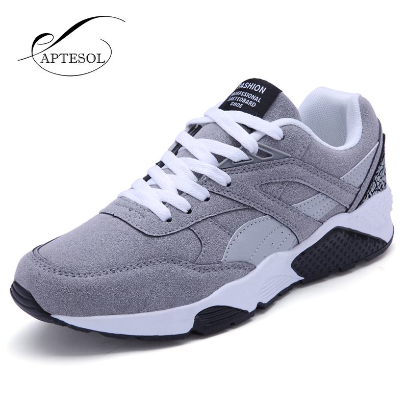 APTESOL Running Shoes For Men Sport Shoes Breathable Outdoor Athletic Walking Sneakers Lightweight Suede Soft Jogging Shoes