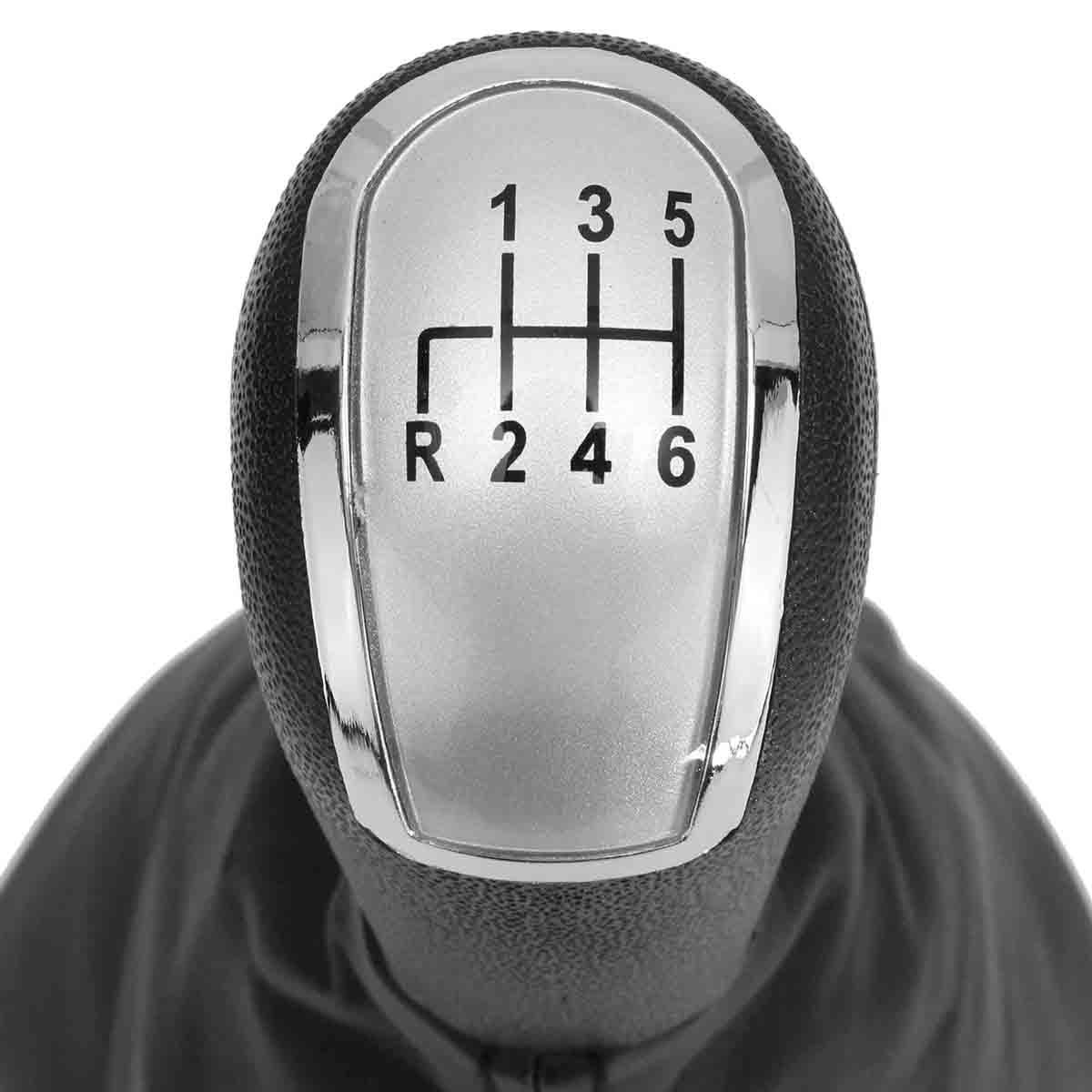 5/6 geschwindigkeit Getriebe Stick Schaltknauf Gamasche Abdeckung Silber Für Mercedes C Klasse W203 S203