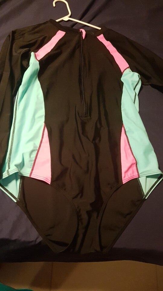 bikinis 2019 mujer One Piece Swimsuit Women Long Sleeve UV Protection Swimwear Plus Size Bathing Suit Beach Sportswear Surfing