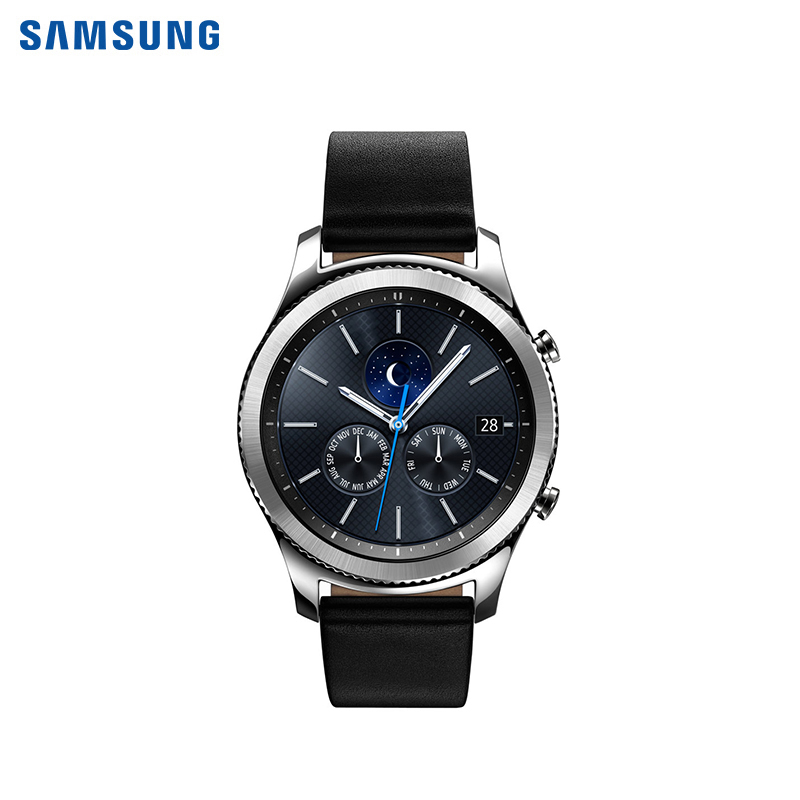 Smart Watches Gear S3 classic genuine leather watch band 22mm for samsung gear s3 classic frontier stainless steel butterfly clasp strap wrist belt bracelet