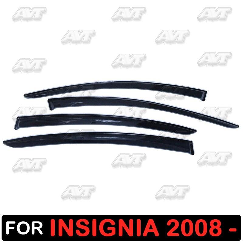 Window deflectors for Opel Insignia 2008 1 set 4 pcs car styling wind decoration guard vent visor rain guards cover