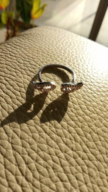 Adjustable Angel Wings Ring
