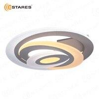 ESTARES Управляемый светодиодный потолочный светильник GEOMATRIA Spiral double 60W OV 500 white 220 ip44
