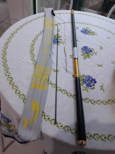Varas de pescar Carbono Alimentador Telescópica