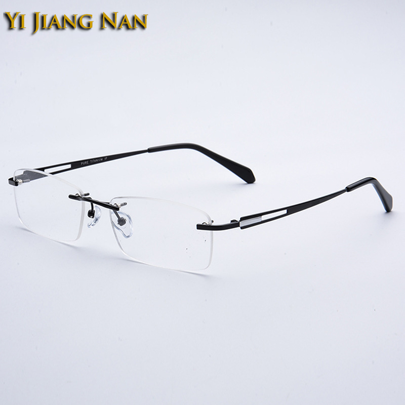 Da Vista Yi Brillen Reinem Top Jiang Nan Black Titan Occhiali Brille gray Uomo Rahmen Rezept Rahmenlose Männlichen silver Männer Marke Qualität anwaZqrB