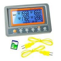 4 канала 328 ~ 2498 градусов C/F K Тип термопары 2 ГБ SD карты Температура настенный термометр Logger