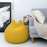 Modern Handmade European Style Lazy Bean Bag Sofa Children's Chair Living Room Single Puff Sofa Tatami Home Decoration 4