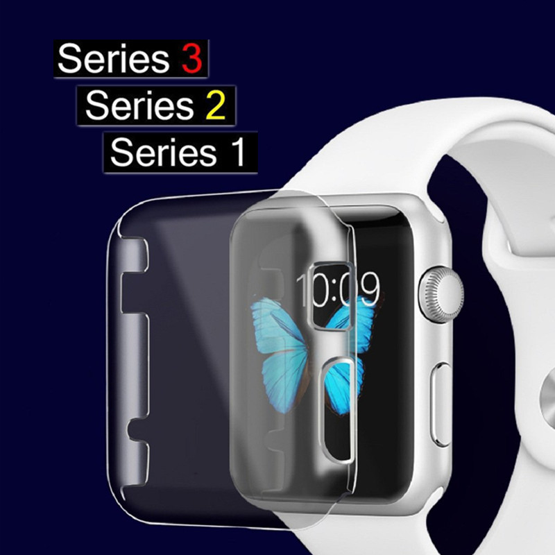 цены на ASHEI Cover for Apple Watch Series 3 2 1 Cases Protector Ultra-Thin PC Hard Full Coverage Clear Case for iWatch Accessories в интернет-магазинах