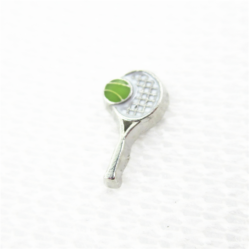 Hot Selling 20pcs/lot Tennis Floating Charms Living Glass Memory Lockets Floating Charms DIY Jewelry Accessory