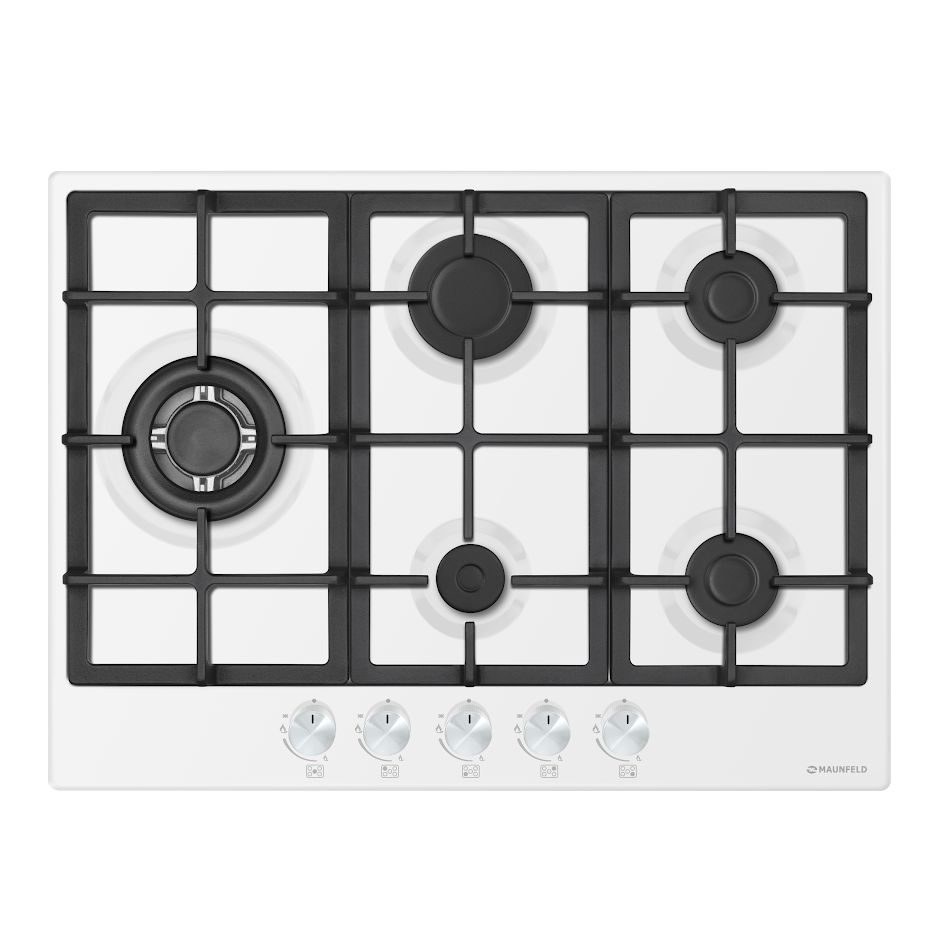 Cooking panel MAUNFELD EGHE.75.33CW/G White cooking panel maunfeld eghe 64 43cw g white