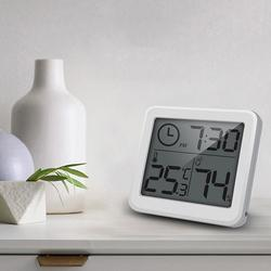 Upgrade Alarm Clocks LCD Ultra-thin digital clock display Temperature Humidity Holder Home Wall snooze table Hygrometer