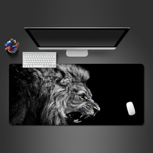 Roaring Lion Animal Mouse Pad Lock Side Non-slip Mousepad Keyboard Computer Mouse Pad High Quality Laptop Game Big Desk Mats