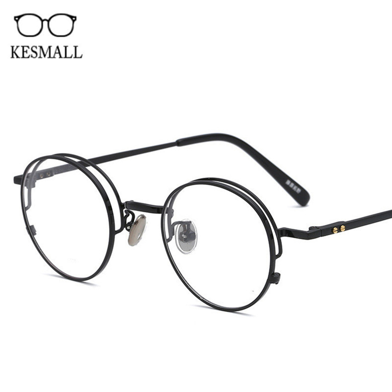 KESMALL New Retro Glasses Frame Men Clear Lens Eyewear Brand Design Women Fashion Optical Eyeglasses Frames Occhiali Miopia XN70 new hot fashion unisex women men hipster vintage retro classic half frame glasses clear lens nerd eyewear 4 colors