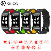 KINCO Bluetooth OLED Heart Rate Blood Oxygen Blood Pressure Detection Bracelet Pedometer Calorie Smart Wristband For