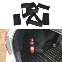 hot deal buy sailnovo 5pcs/set car stickers belts auto trunk storage bag magic tapes car styling fire extinguisher fixed belt stickers straps