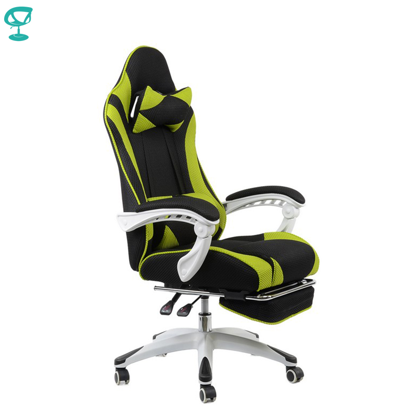 95142 Barneo K-140 Black Gaming Chair Cyber Sport Computer Chair Mesh Fabric High Back Plastic Armrest Free Shipping In Russia