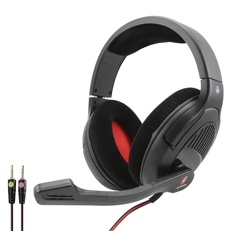 Professional Over-Ear Stereo Bass Wired Game Gaming Gamer Headset Headphones Head Phones with Microphone for Computer PC Laptop oneodio professional studio headphones dj stereo headphones studio monitor gaming headset 3 5mm 6 3mm cable for xiaomi phones pc