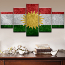 Canvas Paintings Modular Home Decor Frame HD Prints 5 Pieces Sports Flag Cross Religious Poster Picture For Living Room Wall Art