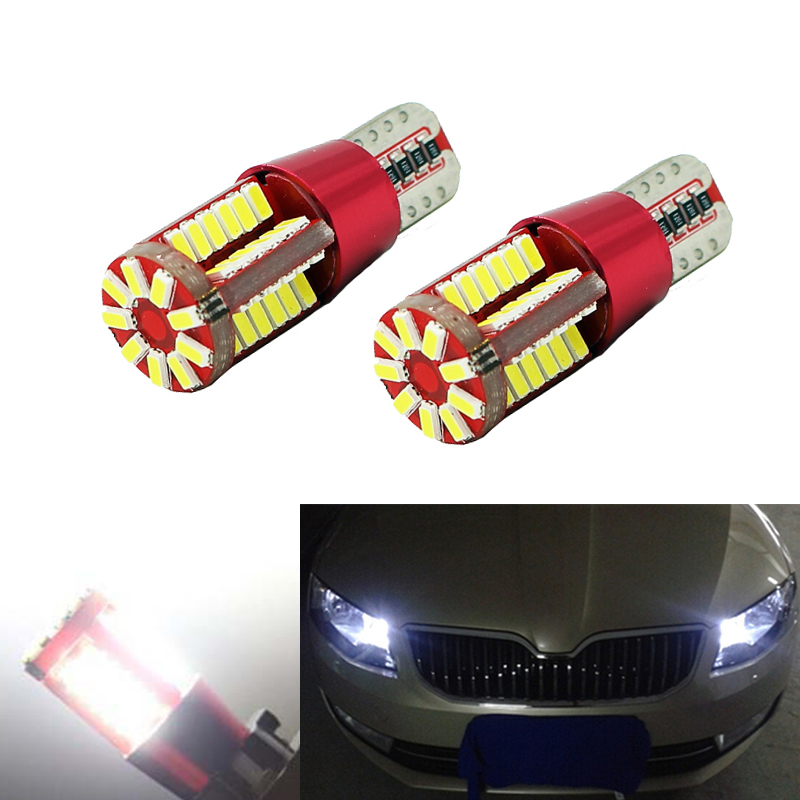 2X <font><b>Canbus</b></font> Car <font><b>4014</b></font> SMD <font><b>T10</b></font> LED <font><b>W5W</b></font> Projector Lens Auto Lamp Light Bulbs for Skoda Superb Octavia A7 A5 2 Fabia Rapid Yeti image