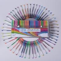 120 pcs Gel Pen Set Refills Metallic Pastel Neon Glitter Sketch Drawing Color Pen School Stationery Marker for Kids Gifts