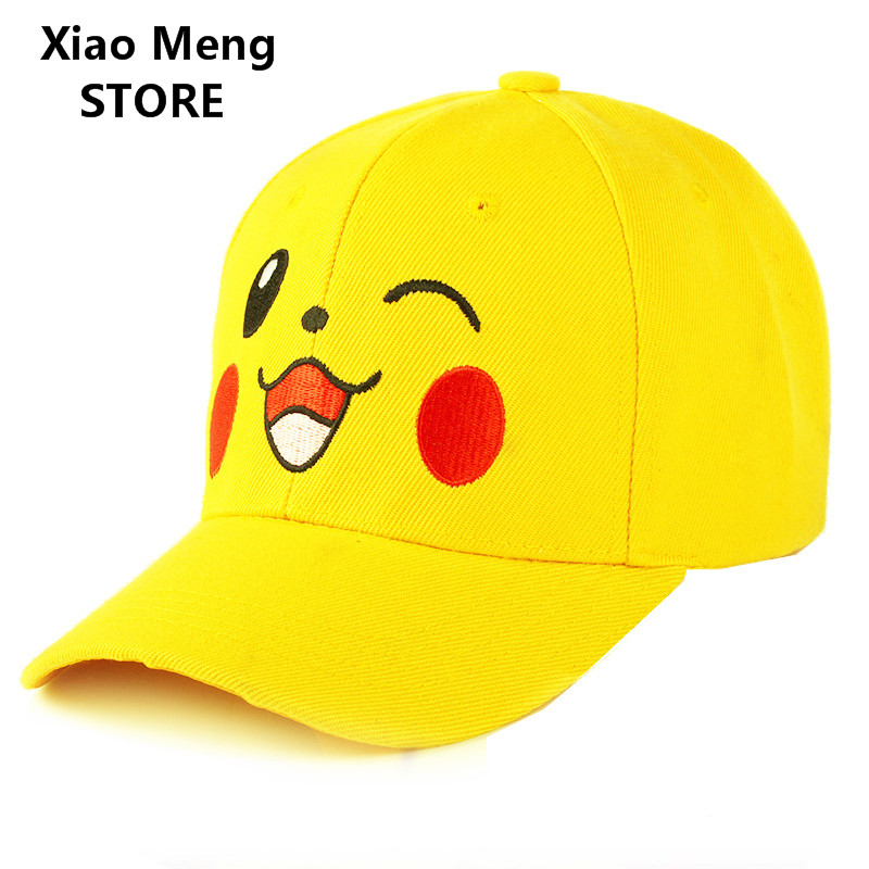 New Yellow Pikachu Baseball Cap Hat Men Women Adjustable Embroidery Pokemon  Mobile Game Pokemon Go Snapback Hat Hip Hop Caps M56. Price  a4de9d253945
