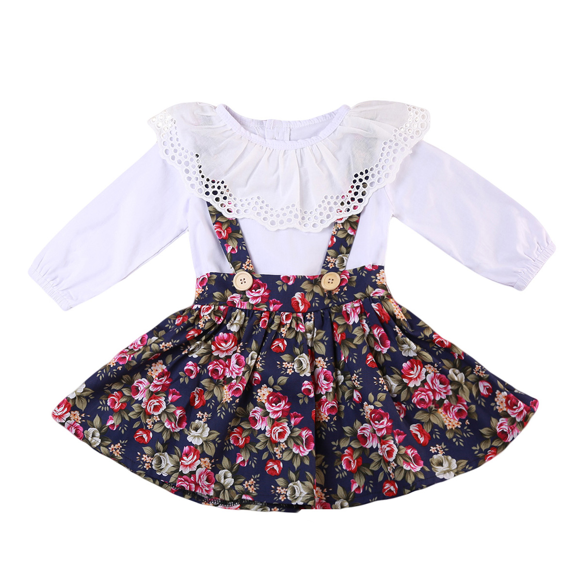 Kids Baby Girls Clothes Sets Top T Shirt Long Sleeve Princess Party Pageant kirts Cotton Cute Kids Girl Clothing humor bear baby girl clothes set new sequins letter long sleeve t shirt stars skirt 2pcs girl clothing sets kids clothes