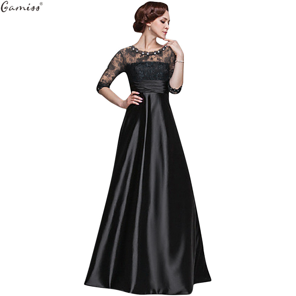 Gamiss Evening Women Dress Elegant Lace Crystal Beads ... - photo#4